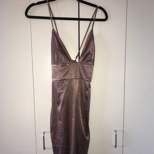 Satin Bodycon Dress
